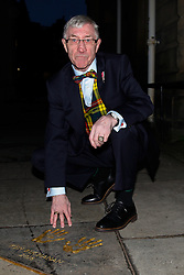 Pictured: Ken's handprints in the City Chambers quadrangle<br /> A ceremony at the City Chambers for the recipient of this year's award, Ken Buchanan, who was presented with a Loving Cup by the Lord Provost. He was also reunited with his hand-prints which have been set in a flagstone within the grounds of the City Chambers and see his name etched on the city's Edinburgh Award honour board <br /> <br /> <br /> <br /> Scott Louden | EEm 3 March 2017