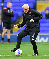 Blackpool's assistant manager Ian Miller during the pre-match warm-up<br /> <br /> Photographer Chris Vaughan/CameraSport<br /> <br /> The EFL Sky Bet League One - Ipswich Town v Blackpool - Saturday 23rd November 2019 - Portman Road - Ipswich<br /> <br /> World Copyright © 2019 CameraSport. All rights reserved. 43 Linden Ave. Countesthorpe. Leicester. England. LE8 5PG - Tel: +44 (0) 116 277 4147 - admin@camerasport.com - www.camerasport.com