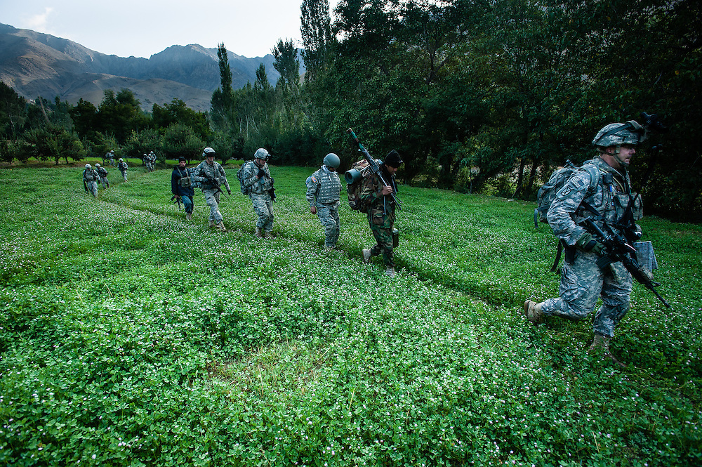American and Afghan soldiers conducted a joint operation in the Jalrez Valley of Wardak Province.