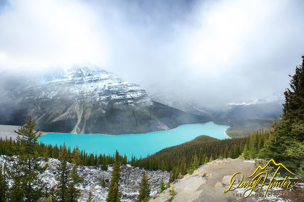 Clearing storm, Peyto Lake, Banff National Park