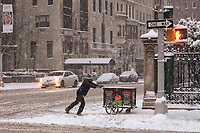 Dagostino's grocery deliveries must go on....Fifth Avenue and 79th street, New York City