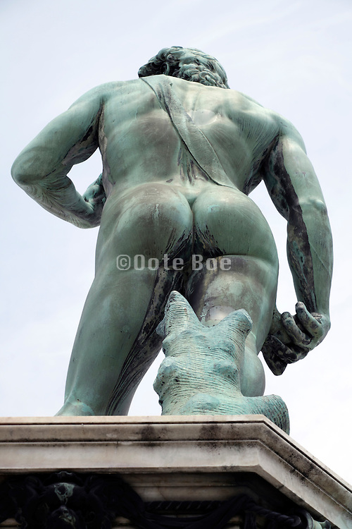 back view statue of David at Pliazzale Michelangelo Florence Italy