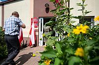 Kolaki Koscielne, woj. podlaskie. 28.06.2020. Wybory prezydenckie 2020. N/z OKW w sali gimnastycznej w miejscowej szkole podstawowej fot Michal Kosc / AGENCJA WSCHOD