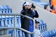 Mother of Rony Laufer of Israel (5) taking pictures during the UEFA European Under 17 Championship 2018 match between England and Israel at Proact Stadium, Whittington Moor, United Kingdom on 4 May 2018. Picture by Mick Haynes.