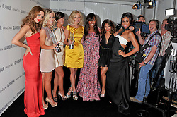 Left to right, Una Healey, Mollie King, Frankie Sandford, Vanessa White, Fearne Cotton, Alexandra Burke, and Rochelle Wiseman at the Glamour Women of The Year Awards 2011 held in Berkeley Square, London W1 on 7th June 2011.