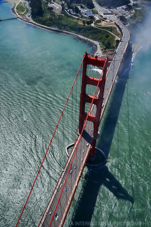 The Golden Gate Bridge & Fort Point (Aerial)