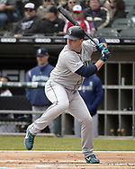 CHICAGO - APRIL 05:  Jay Bruce #32 of the Seattle Mariners bats against the Chicago White Sox on April 5, 2019 at Guaranteed Rate Field in Chicago, Illinois.  (Photo by Ron Vesely)  Subject:  Jay Bruce