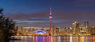 60912-00314 Toronto skyline at night from Toronto Island Park Toronto, Ontario Canada