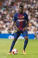 FC Barcelona's Samuel Umtiti during Supercup of Spain 2nd match at Santiago Bernabeu Stadium in Madrid, Spain August 16, 2017. (ALTERPHOTOS/Borja B.Hojas)