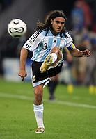 Hamburg 10/6/2006 World Cup 2006<br /> <br /> Argentina Cote d'Ivoire - Argentina Costa d'Avorio 2-1<br /> <br /> Photo Andrea Staccioli Graffitipress<br /> <br /> Juan Sorin of Argentina