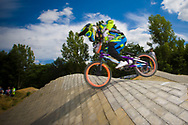 #33 (GEORGE Dani) USA at the 2014 UCI BMX Supercross World Cup in Berlin, Germany.