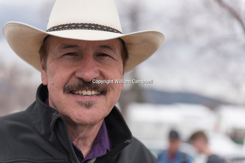 """Montana Democrat Rob Quist campaigning in Livingston, Montana for the House of Representatives seat  vacated by newly appointed Interior Secretary Ryan Zinke in a special election that will take place on May 25, 2017. Quist, 69, is a popular singer and songwriter who performed with the Mission Mountain Wood Band. He still tours with a band Rob Quist and the Great Northern. He wrote and performs his own campaign song-""""I Will Stand Up for You"""". Quist will be running against a well financed Republican Greg Gianforte who recently lost his run for governor of Montana."""