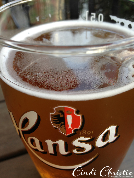 A Hansa beer is enjoyed at a the Dr. Wiesener restaurant in Bergen, Norway, on May 20, 2013. A hearty soup is available after dinner hours.  (© 2013 Cindi Christie)