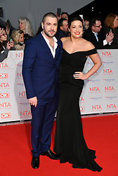 Shayne Ward and Sophie Austin attending the National Television Awards 2018 held at the O2, London. Photo credit should read: Doug Peters/EMPICS Entertainment