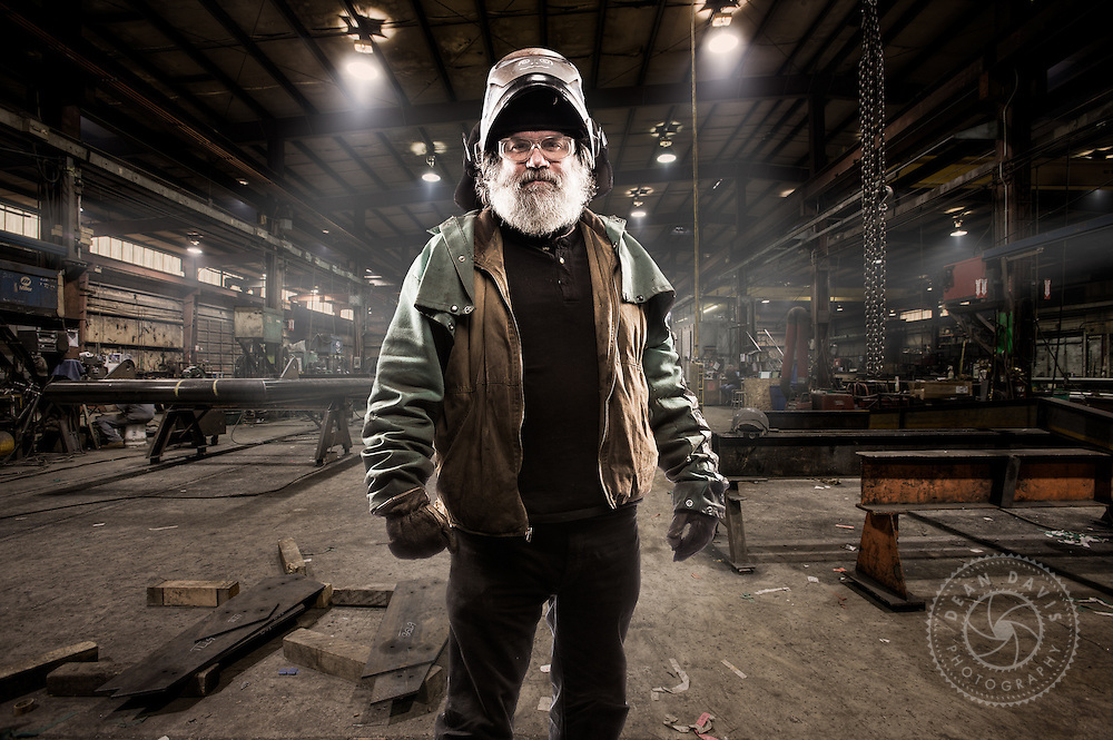 Image by Dean Davis: This badass dude with a great beard is a steelworker I photographed at Metals Fab, a steel fabrication company located in Airway Heights just outside Spokane Washington. He's a welder with crazy skills.