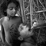 House-to-house immunization at a Muslim vilage, Raniganj block, Araria district, Bihar