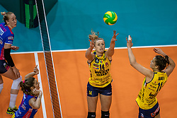 18-05-2019 GER: CEV CL Super Finals Igor Gorgonzola Novara - Imoco Volley Conegliano, Berlin<br /> Igor Gorgonzola Novara take women's title!Novara win 3-1 /  Joanna Wolosz #14 of Imoco Volley Conegliano, Anna Danesi #11 of Imoco Volley Conegliano