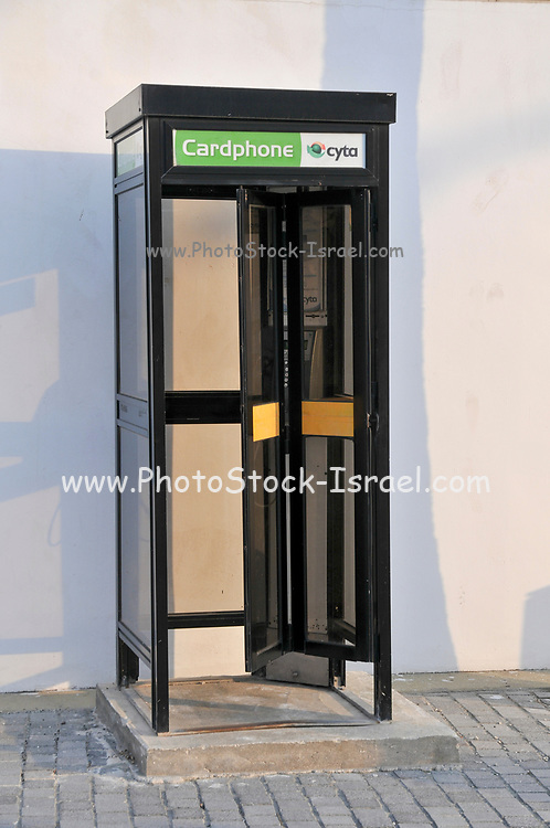 Public Phonebox Photographed in Paphos, Cyprus