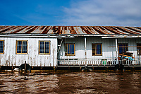 A house boat in Chau Doc in the Mekong Delta, southern Vietnam.