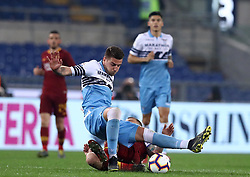 March 2, 2019 - Rome, Lazio, Italy - SS Lazio v As Roma : Serie A.Sergej Milinkovic-Savic of Lazio at Olimpico Stadium in Rome, Italy on March 2, 2019. (Credit Image: © Matteo Ciambelli/NurPhoto via ZUMA Press)