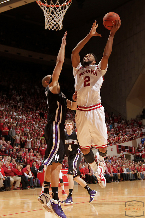 15 February 2012: Indiana Forward Christian Watford (2)  as the Indiana Hoosiers played the Northwestern Wildcats in a college basketball game in Blomington, Ind.