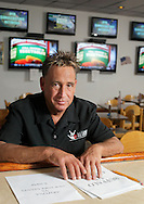 Delmar, NY - Marvin Sontz, the owner of Del Lanes, in the remodeled bar area at his bowling alley on Oct. 25, 2009.
