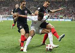 July 11, 2018 - Moscow, Russia - Marcus Rashford (C) of England competes during the 2018 FIFA World Cup semi-final match between England and Croatia in Moscow, Russia, July 11, 2018. (Credit Image: © Cao Can/Xinhua via ZUMA Wire)