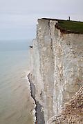Beachy Head vertical sheer chalk cliffs, East Sussex, England