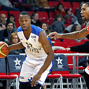 Anadolu Efes's Brian Hopson (L) during their BEKO Basketball League match Anadolu Efes between Banvit at Abdi Ipekci Arena in Istanbul Turkey on Sunday 05 January 2014. Photo by TURKPIX