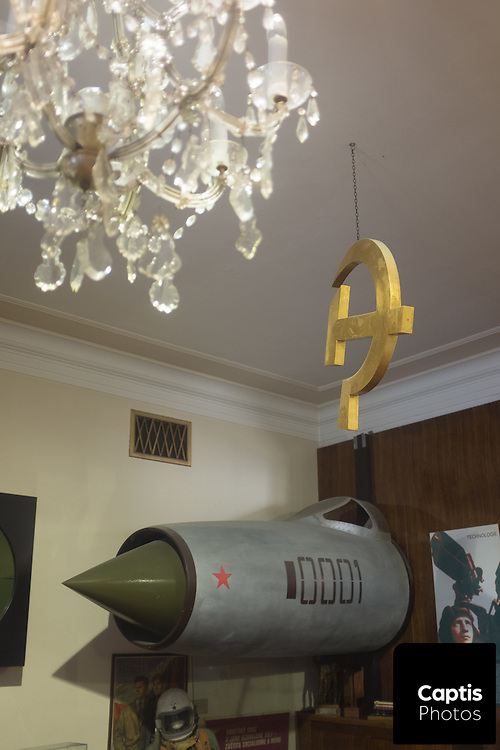 Inside the Communism Museum in Prague.
