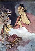 Departure of Prince Siddhartha; Siddhartha Guataman (c.563-c.483 BC), founder of Buddhism. Became supreme Buddha c528 BC.