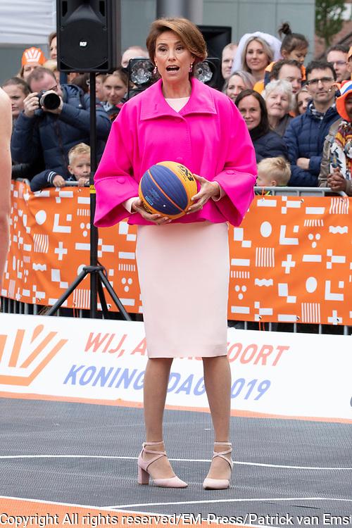 Koningsdag 2019 in Amersfoort / Kingsday 2019 in Amersfoort.<br /> <br /> Op de foto: prinses Marilene
