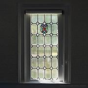 Window 1 on plan.<br /> Manset Union Church, Manset, Maine.