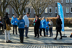 Pictured: Ruth Davidson met the press as she continues on the campaign trail<br /> <br /> Scottish Conservative leader Ruth Davidson visited Stockbridge in Edinburgh today as she continues o the campaign trail.<br /> <br /> Ger Harley | EEm 25 March 2016