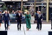 DEN HAAG, 02-09-2021, Cultuurhuis Amare<br /> <br /> Koning Willem Alexander en Koningin Maxima tijdens de feestelijke overdracht bij van het nieuwe cultuurhuis Amare. De gemeente draagt het huis voor podiumkunsten over aan de bewoners: Nederlands Dans Theater (NDT), het Residentie Orkest Den Haag, het Koninklijk Conservatorium en Stichting Amare. FOTO: Brunopress/Patrick van Emst<br /> <br /> King Willem Alexander and Queen Maxima during the festive transfer of the new cultural center Amare. The municipality hands over the house for the performing arts to the residents: Nederlands Dans Theater (NDT), the Residentie Orkest The Hague, the Royal Conservatoire and the Amare Foundation.