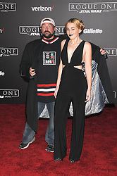 December 10, 2016 - Los Angeles, CA, United States of America - Kevin Smith and Harley Quinn Smith arriving at the Star Wars ''Rogue One'' World Premiere at the Pantages Theater on December 10 2016 in Hollywood, CA  (Credit Image: © Famous/Ace Pictures via ZUMA Press)