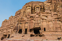 the Corinthian Tomb in Nabatean Petra Jordan middle east