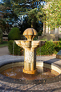 Czechoslovak memorial fountain, Jephson Gardens park, Royal  Leamington Spa, Warwickshire, England, UK