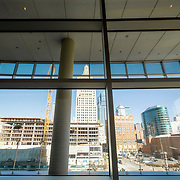 Kansas CIty Loews Hotel at the Convention Center, new-build construction architectural photography for construction subcontractors.
