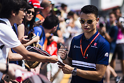 May 26, 2017 - Monaco, Monaco - 94 WEHRLEIN Pascal from Germany of Sauber F1 C36 signing autographs to the fans during the Monaco Grand Prix of the FIA Formula 1 championship, at Monaco on 26th of 2017. (Credit Image: © Xavier Bonilla/NurPhoto via ZUMA Press)