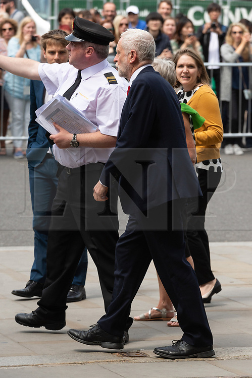 © Licensed to London News Pictures. 15/06/2018. London, UK.  Labour party leader Jeremy Corbyn attends the memorial service for Professor Stephen Hawkin at Westminster Abbey. Photo credit: Ray Tang/LNP