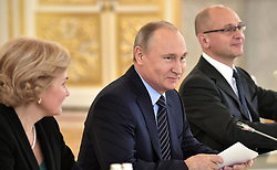 December 21, 2017 - Moscow, Russia - Russian President Vladimir Putin with Deputy Prime Minister Olga Golodets, left, and First Deputy Chief of Staff Sergei Kiriyenko during a meeting of the Council for Culture and Art at the Kremlin December 21, 2017 in Moscow, Russia. (Credit Image: © Alexei Druzhinin/Planet Pix via ZUMA Wire)