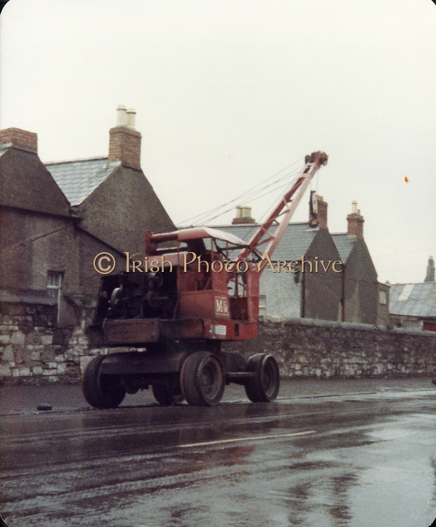 Old Dublin Amature Photos April 1984 WITH, St, James Hospital, old petrol pump, Skerries, Old Mobile Crane, Western Way, Black Church, Loughshinney, old shed, Anita Lorraine and Friend Old amateur photos of Dublin streets churches, cars, lanes, roads, shops schools, hospitals