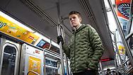 NEW YORK  2020V10<br /> Gustav på tunnelbanan i NY.<br /> <br /> Foto: Per Danielsson/Projekt.P