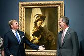 Koning opent tentoonstelling Rembrandt-Velazquez. Nederlandse en