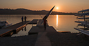 Varese. Lombardia. ITALY. General View.  Sun Set, Crewsreturning from afternoon Training on Lake/Lago Varies. [Varese Rowing Club]. [Canottieri Varese]<br /> <br /> Tuesday  03/01/2017<br /> <br /> [Mandatory Credit; Peter Spurrier/Intersport-images]<br /> <br /> <br /> LEICA CAMERA AG - LEICA Q (Typ 116) - 1/5000 - f2.8 , Atmospheric, mist, fog, Sunrise, Sunset, Blue Hour,