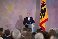 22 FEB 2013, BERLIN/GERMANY:<br /> Joachim Gauck, Bundespraesident, haelt eine Rede zu Europa, Schloss Bellevue<br /> IMAGE: 20130222-02-022<br /> KEYWORDS: Europarede, speech, Europe, Bellevue Forum