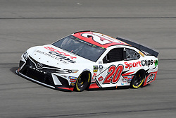 March 1, 2019 - Las Vegas, NV, U.S. - LAS VEGAS, NV - MARCH 01: Erik Jones (20) Joe Gibbs Racing (JGR) Toyota Camry drives through turn four during practice for the Monster Energy NASCAR Cup Series 22nd Annual Pennzoil 400 on March 1, 2019, at the Las Vegas Motor Speedway in Las Vegas, Nevada. (Photo by Michael Allio/Icon Sportswire) (Credit Image: © Michael Allio/Icon SMI via ZUMA Press)