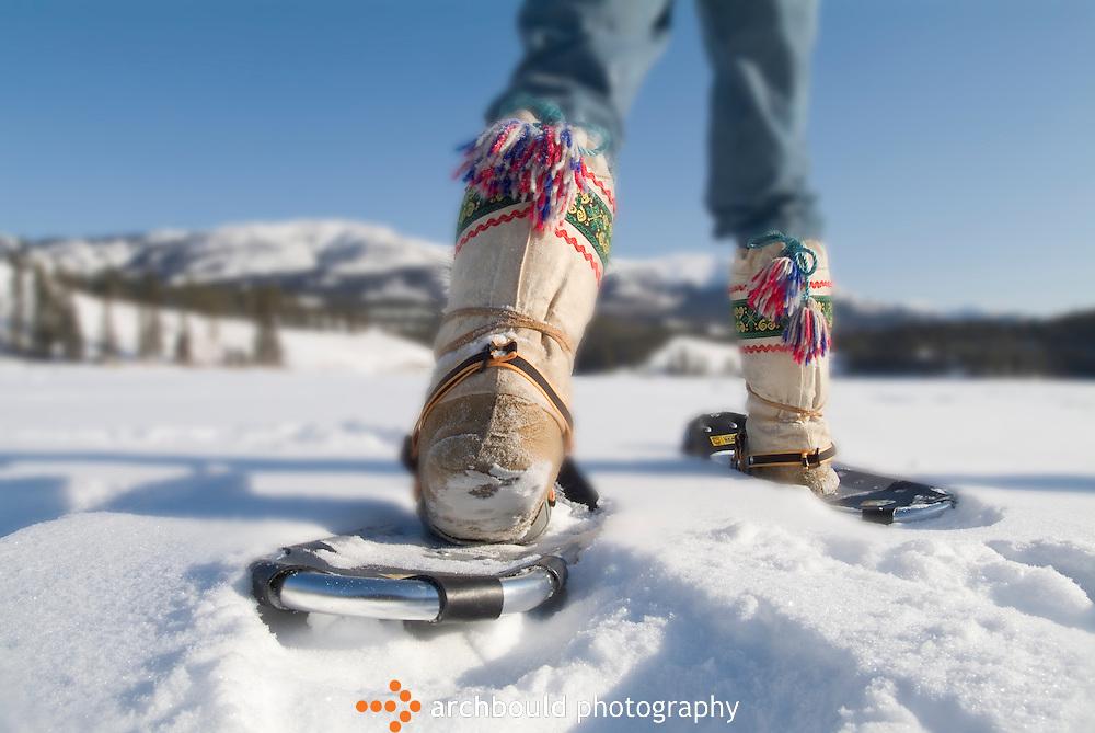 Snowshoeing in the Yukon.