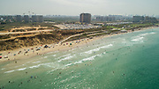 Aerial Photography of the Coastline of Northern Tel Aviv, Looking South